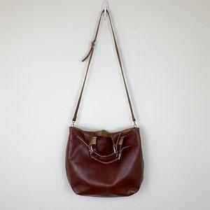 Vintage Handmade Leather Tote Bag